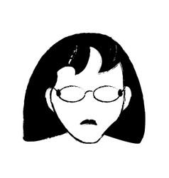avatar female person head vector image