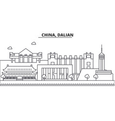 china guilin architecture line skyline vector image vector image