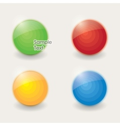 colored sphere vector image