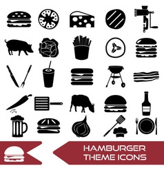 hamburger theme modern simple icons set eps10 vector image vector image