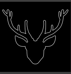 head deer the white path icon vector image vector image