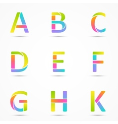Logo letters a b c d e f g h k company design vector image vector image