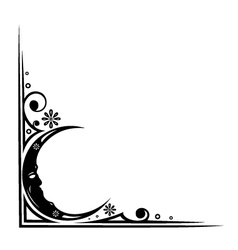 Moon border vector image