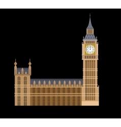 the Big Ben vector image