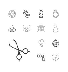 13 shiny icons vector