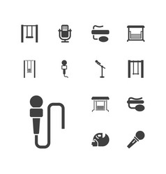 13 sing icons vector