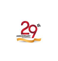 29 anniversary design logotype red color vector