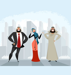 arab men and woman vector image
