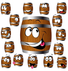 Barrel cartoon vector