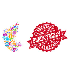 Black friday composition of mosaic map of vector