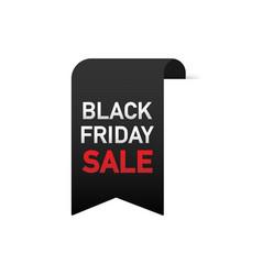 black friday sale banner design over a white vector image
