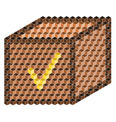 Brown box from 3d cubes vector