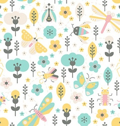 Bugs and Flowers vector