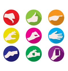 business hand gestures color icon vector image