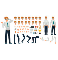 cartoon manager character kit office managers vector image