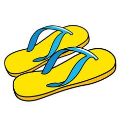 Cartoon of sandals vector