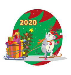 Christmas mouse 5 vector