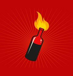 Cocktail molotov vector