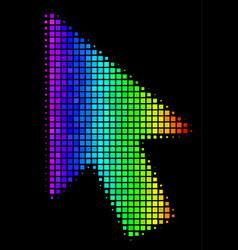 Colored dot mouse cursor icon vector