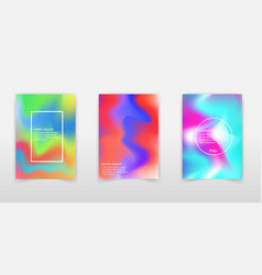 colorful bright holographic backgroundsvibrant vector image