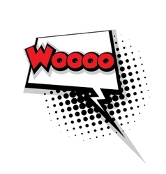 Comic text woo sound effects pop art vector image