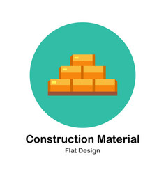 Construction material flat icon vector