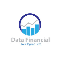 data financial logo designs vector image