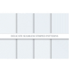 Delicate seamless striped patterns decorative vector