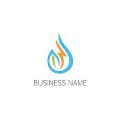 droplet bio water logo vector image