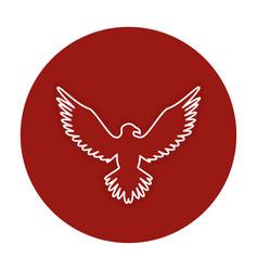Eagle american symbol icon vector