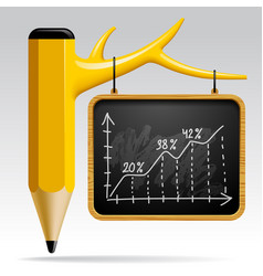 Education design with tree pencil and blackboard vector