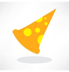 Fast Food Icon Slice of Pepperoni Pizza vector