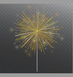 Festive bengal light lighting magical fireworks vector
