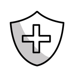 Figure seal cross emergency security vector