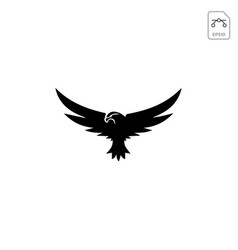 Flying eagle logo template and inspiration vector