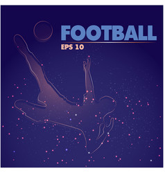 football text modern soccer player over head kick vector image