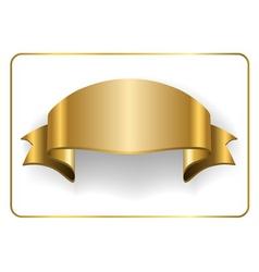 Gold satin ribbon on white 6 vector