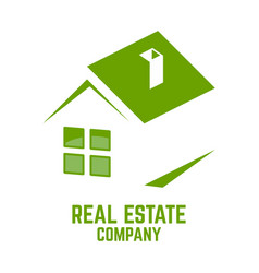 green real estate logo vector image