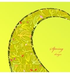 Green sprig background vector image