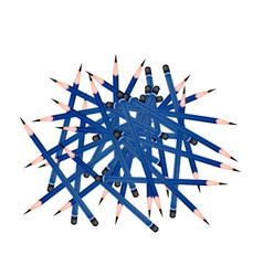 Group of Sharpened Pencils on White Background vector image