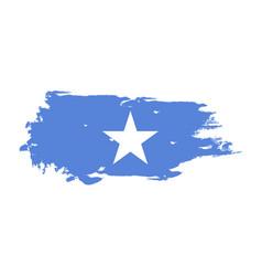 grunge brush stroke with somalia national flag vector image
