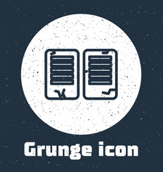 Grunge line the commandments icon isolated on grey vector