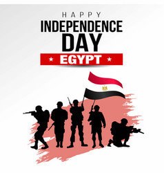 Happy independence day egypt template design vector