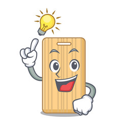 Have an idea wooden cutting board mascot cartoon vector