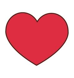 heart cartoon icon vector image