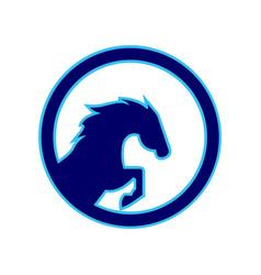 Horse power concept logo icon vector