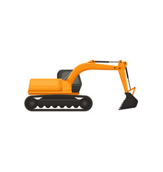 hydraulic excavator heavy equipment with bucket vector image