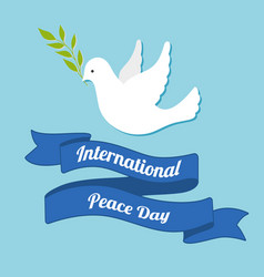 international day of peace dove of peace with vector image