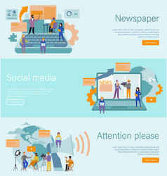 journalist concept mass media profession vector image