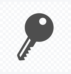 key icon isolated on transparent background vector image